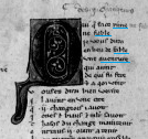 Text opening with 'fable' BnF, fr. 837, f. 265v (detail) Taken from Gallica by kind permission of the BnF www.gallica.bnf.fr
