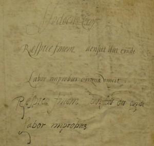 Brussels - KBR - 837-45, fol. 102v: Owner inscription (by courtesy of KBR Brussels)